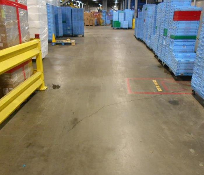 Warehouse Water Damage in Ft. Worth, Texas After