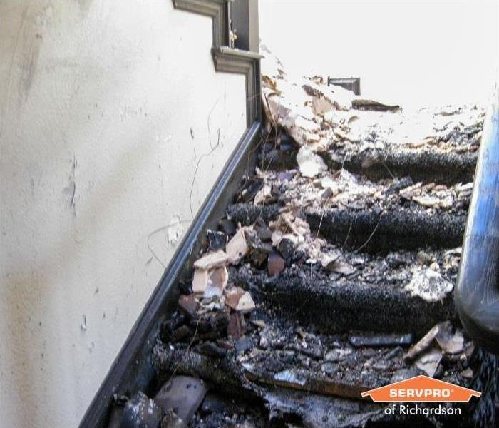 fire damaged stairs