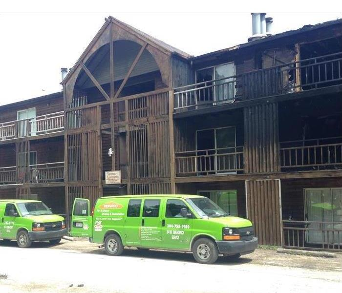 SERVPRO Team At Scene of Dallas Apartment After Fire