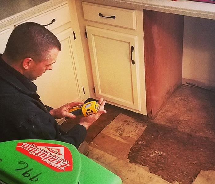 SERVPRO Worker Performing a Home Test